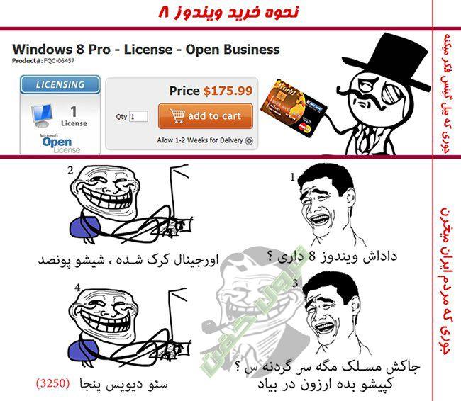 نحوه خرید ویندوز 8