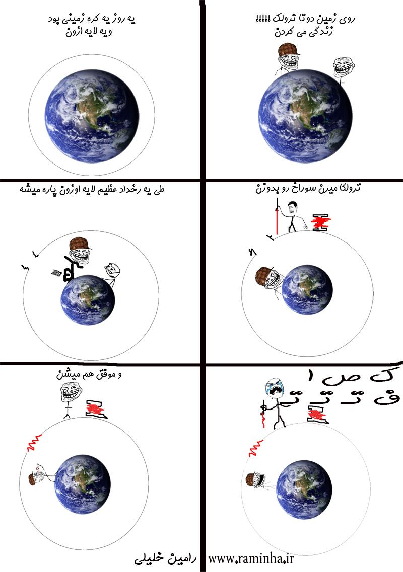 کره زمین و لایه ازون