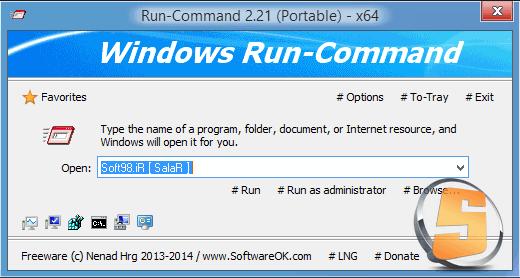 Run-Command 2.21 + Portable x86/x64 جایگزین مناسب برای Run ویندوز