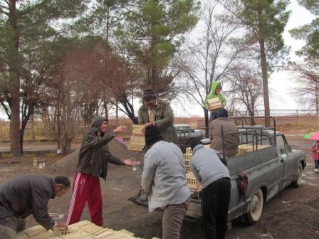 کمک به ساخت گلزار شهداء