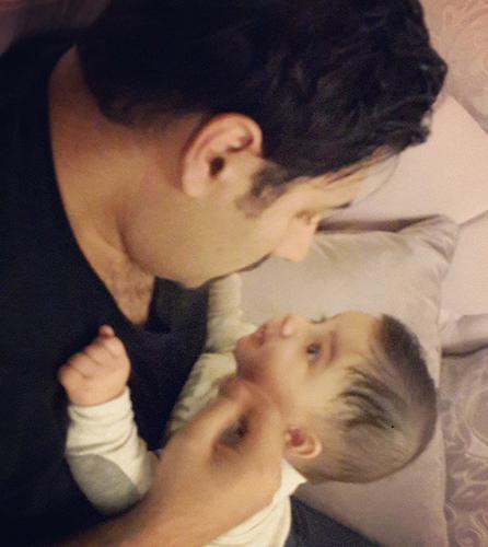 عکس جدید و جالب و زیبای احسان خواجه امیری و پسرش ارشان