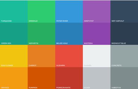 معرفی وب سایت رنگ های فلت + کد HTML آنها