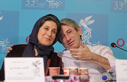 عکس فاطمه معتمد آریا و همسرش
