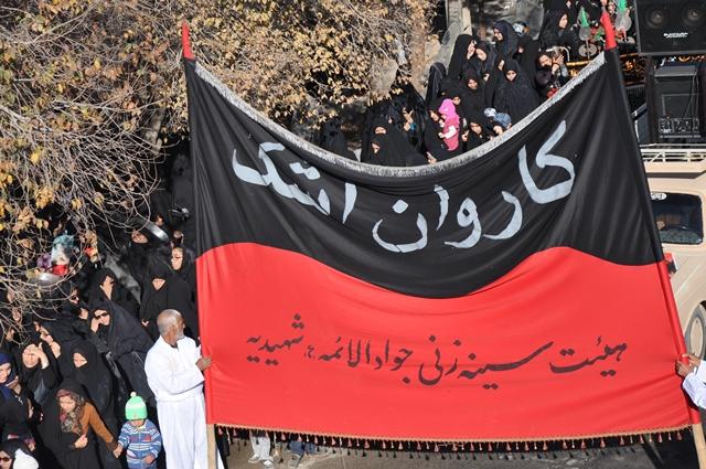 «کاروان اشک» در شهیدیه میبد+تصویر