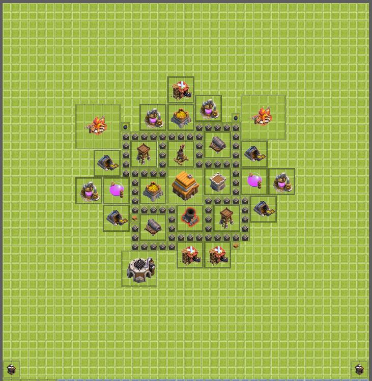مپ(نقشه)کلش آف کلنز برای Town Hall 3 (چهار)