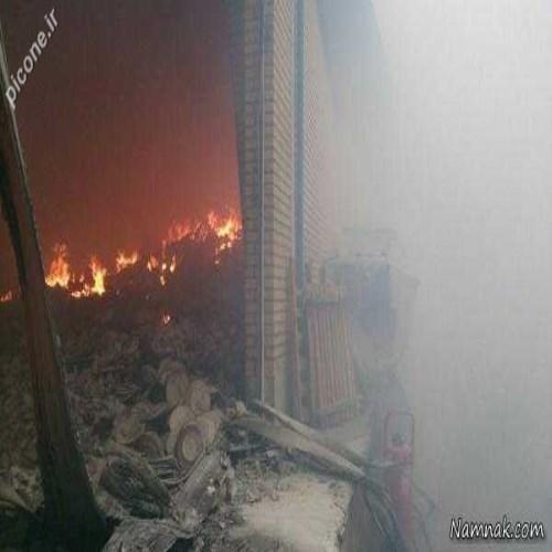 جزئیات آتش سوزی کارخانه چینی مقصود مشهد