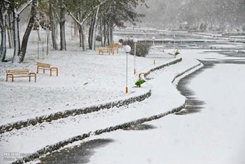 بارش برف در اردبیل/تصاویر