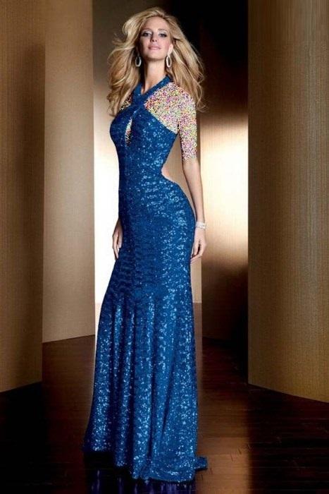 مدل های لباس شب کوتاه و بلند ويژه زنان 95