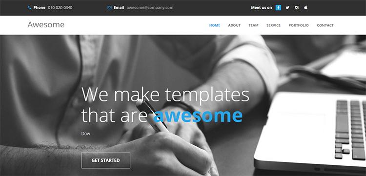 دانلود قالب html به نام Awesome