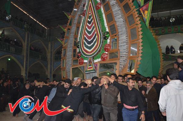 20 نخل در مراسم نخل برداری شهادت امام رضا(ع)میبد94+تصویر