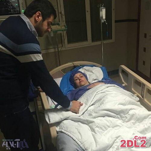 مادر مجری ممنوع التصویر تلویزیون در بیمارستان بستری شد + عکس
