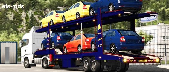 دانلود تریلر حمل خودرو های ایرانی برای یورو تراک