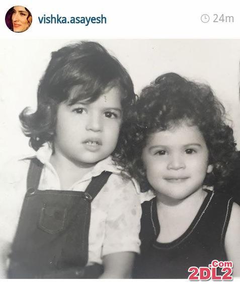 عکس تازه منتشر شده ویشکا آسایش در کنار خواهرش