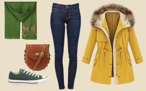 ست لباس پیشنهادی با پالتو زمستان 94