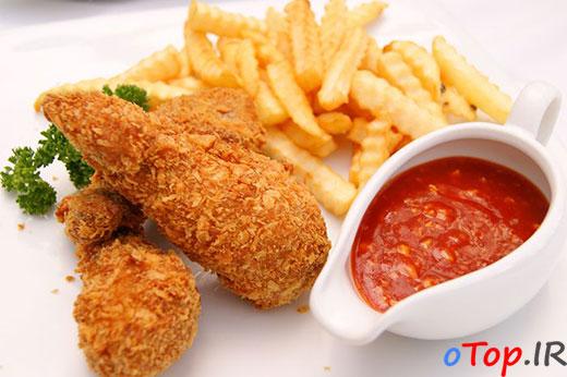 طرز تهیه کنتاکی مرغ ( KFC )