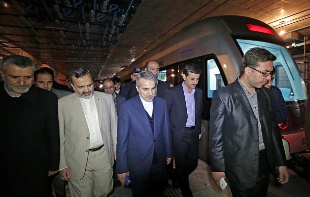 بازدید معاون رییسجمهور از توسعه خط یک قطارشهری