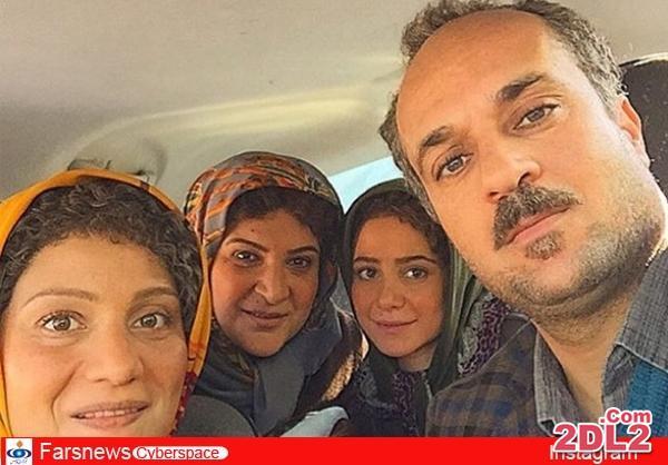 پشت صحنه فیلم زاپاس با حضور ریما رامین فر و همسرش + عکس