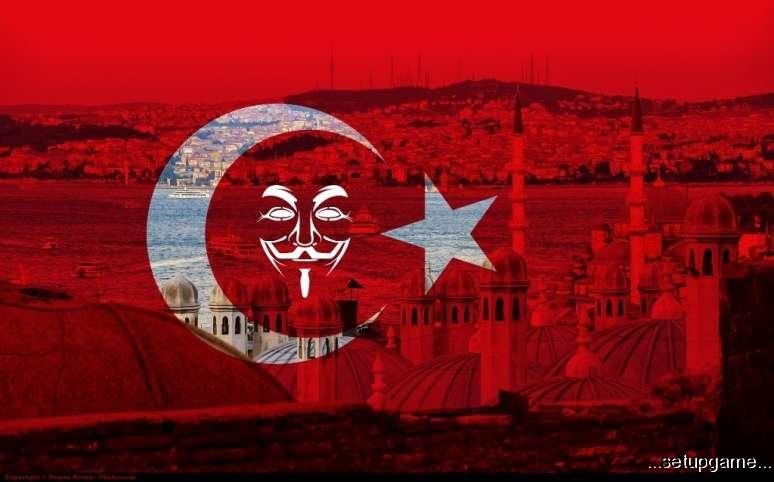 اینترنت ترکیه توسط هکرهایAnonymous قطع شد!