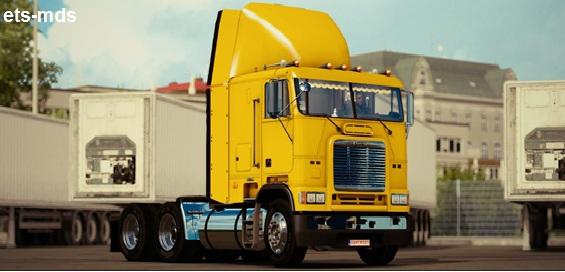 دانلود کامیون فوق العاده Freightliner FLB + داخلی و صدا برای یورو تراک