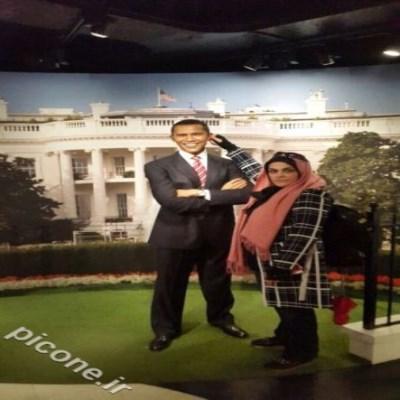 پیچاندن گوش اوباما توسط زن ایرانی در اروپا +عکس