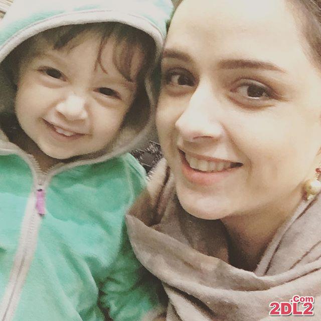 عکس شخصی ترانه علیدوستی و دخترش