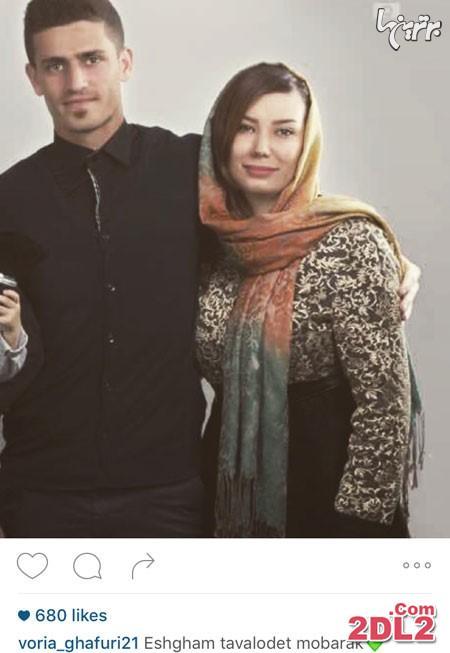 عکس منتشر شده از وریا غفوری و همسرش