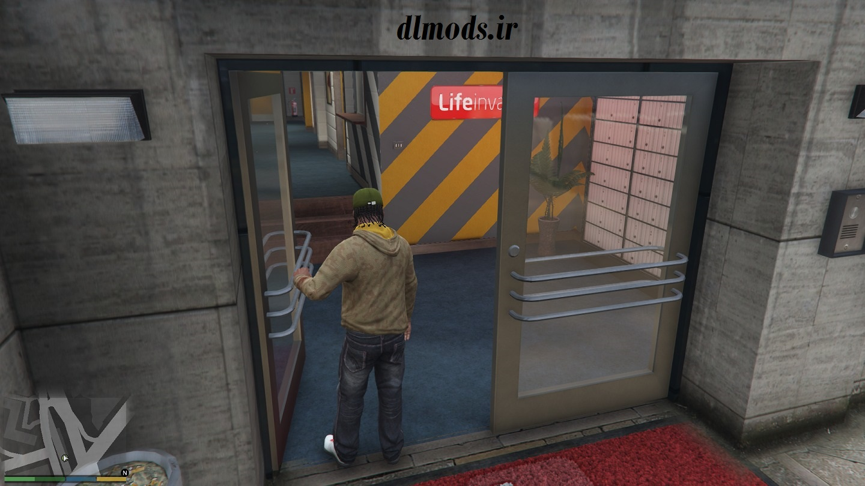 مد باز شدن درب ساختمان ها برای GTA V