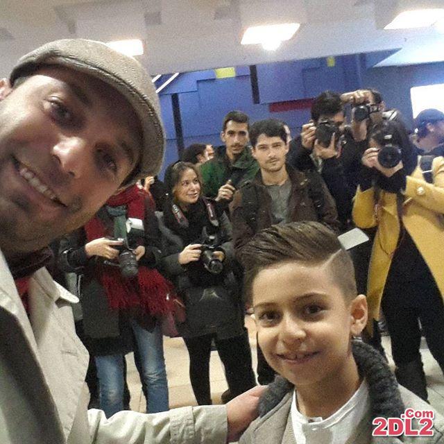 عکس سلفی خبرنگار معروف با پسرش