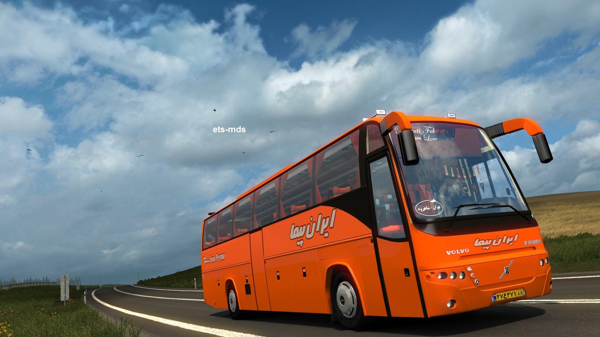 دانلود اتوبوس ولوو همسفر B12 TX ورژن دوم از گروه EM برای یورو تراک