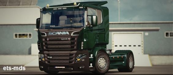 دانلود کامیون اسکانیا lllegal v8 ادیت شده برای یورو تراک