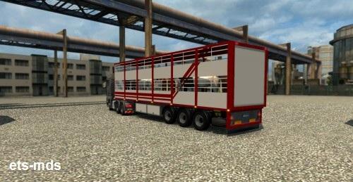 دانلود تریلر حمل حیوانات ورژن اول برای یورو تراک