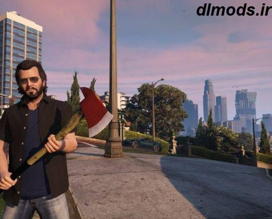 دانلود مد اسلحه تبر در بازی GTA V