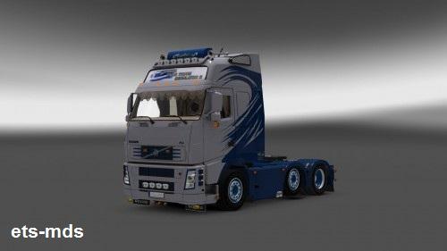 کامیون فوق العاده volvo fh16 greek +داخلی برای یورو تراک
