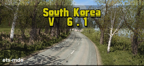 دانلود مپ زیبای کره جنوبی ورژن 1.6 برای یورو تراک