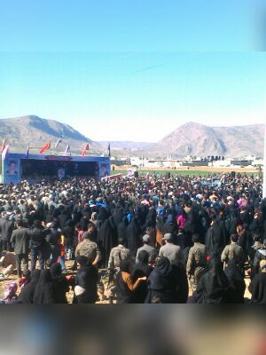 تدفین شهید مدافع حرم مهرداد قاجاری در خومه زار