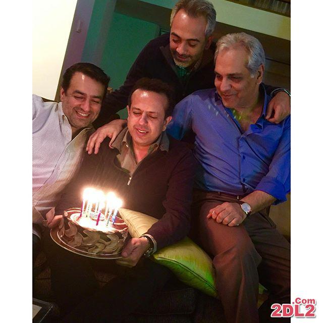 عکس منتشر شده از مهران مدیری در جشن تولد سام نوری