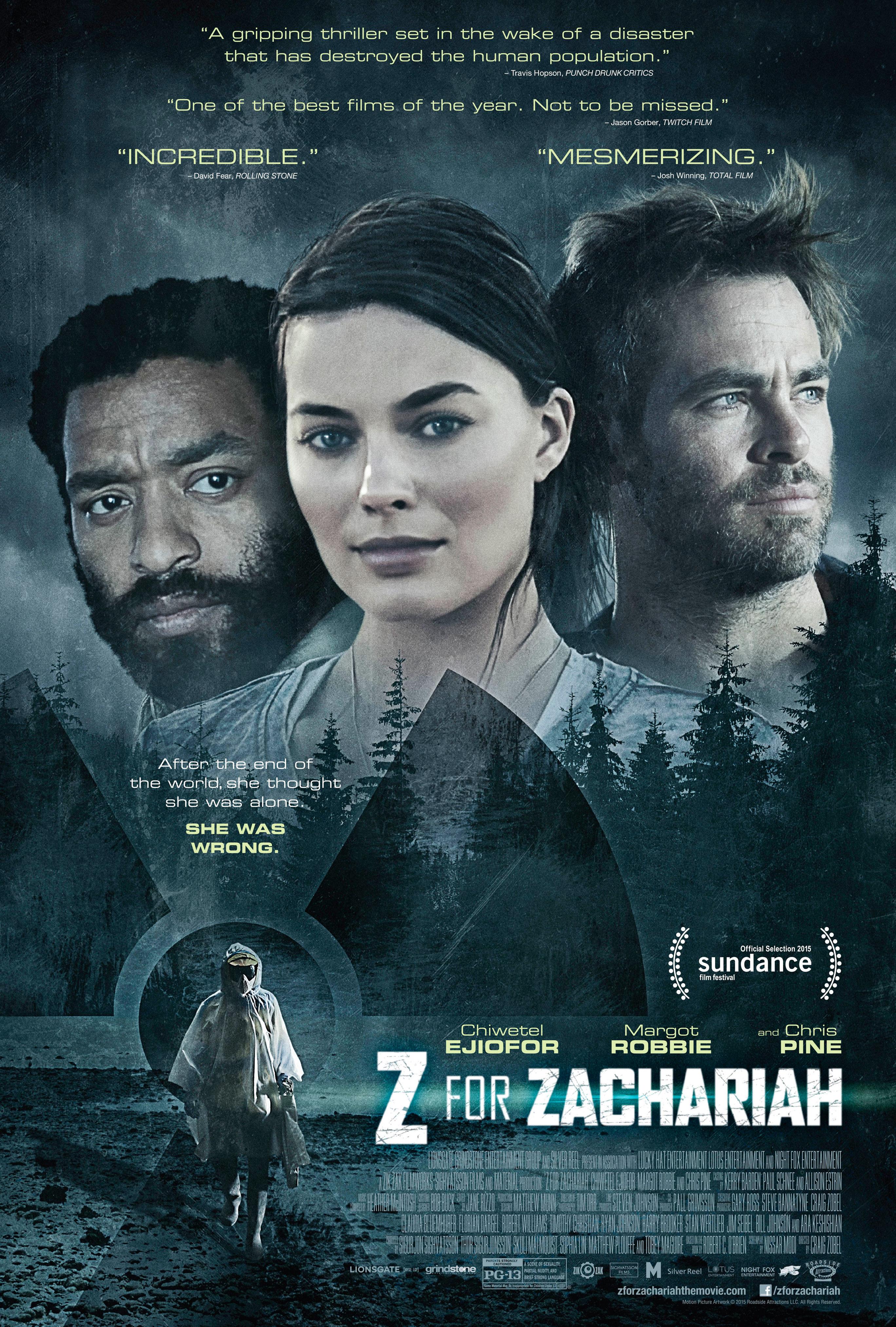 دانلود رایگان فیلم ز مثل زکریا Z for Zachariah 2015