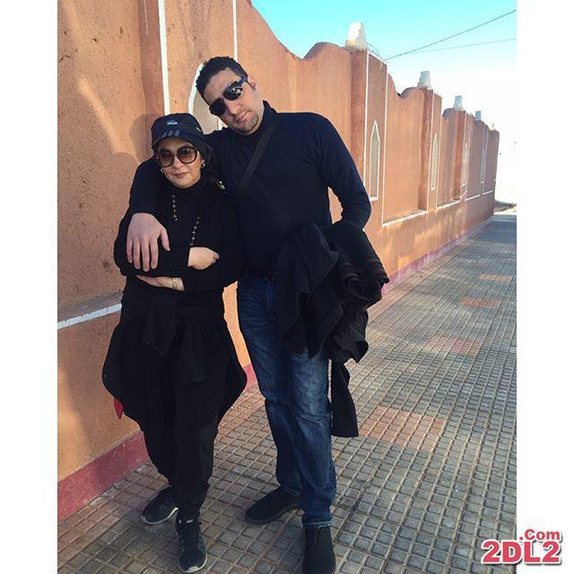 عکسی از کویر نوردی لاله صبوری و همسرش در خور و بیابانک