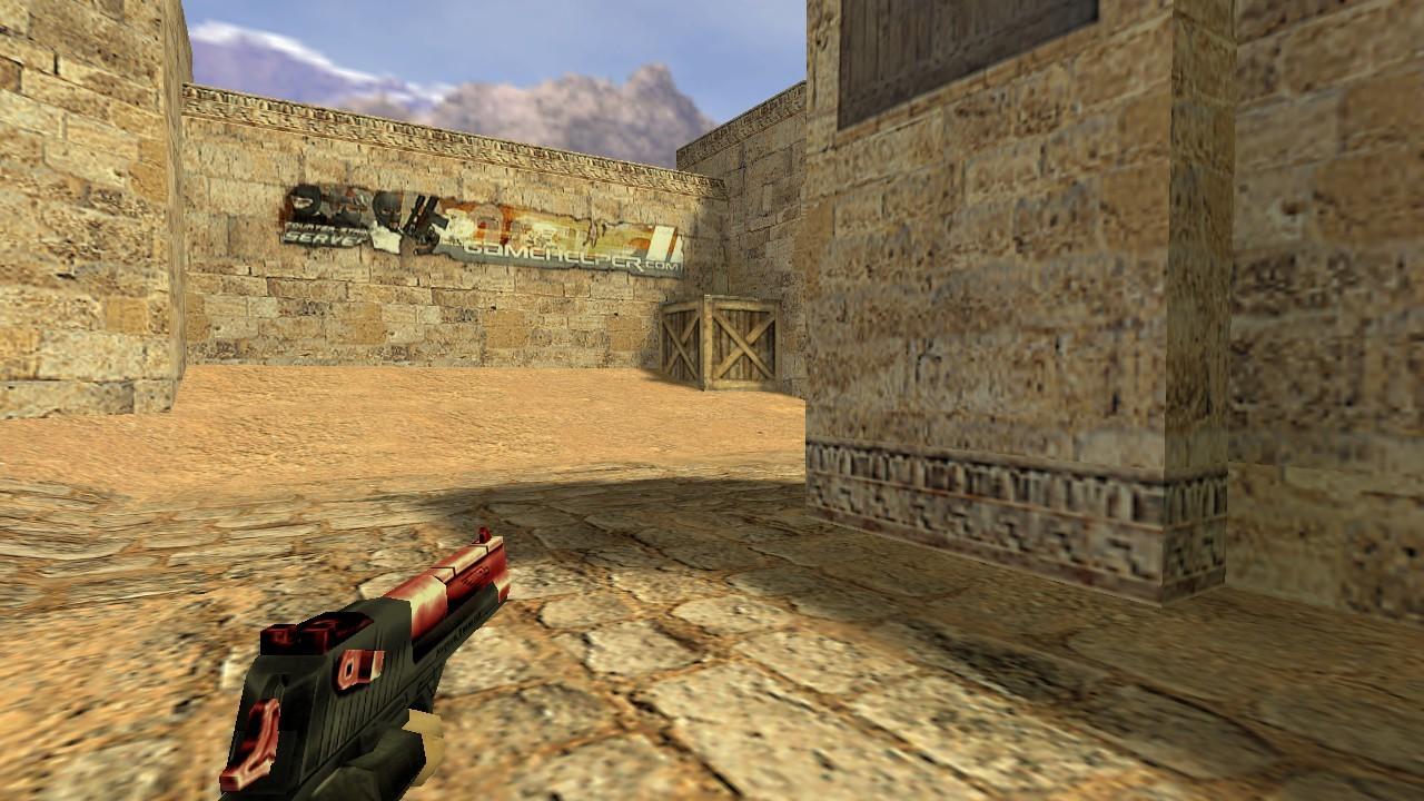 دانلود اسکین قرمز مشکی دیزرت Desert
