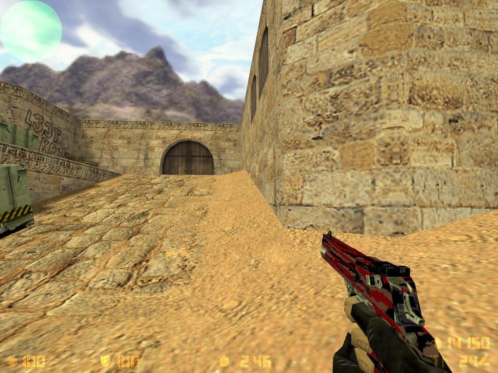دانلود اسکین دیزرت قرمز مشکی توسی Desert