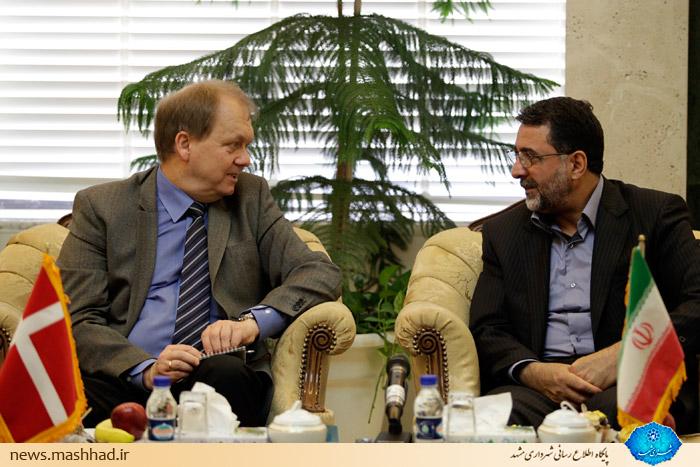 دیدار سفیر دانمارک با شهردار مشهد