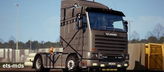 کامیون بسیار زیبای اسکانیا 143m + داخلی و صدا برای یورو تراک