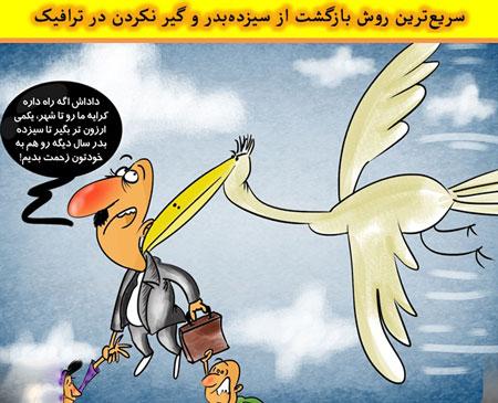 کاریکاتور روز سیزده به در