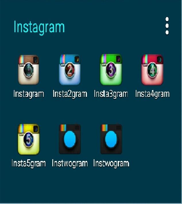 نصب همزمان 7 هفت اینستاگرام در یک گوشی