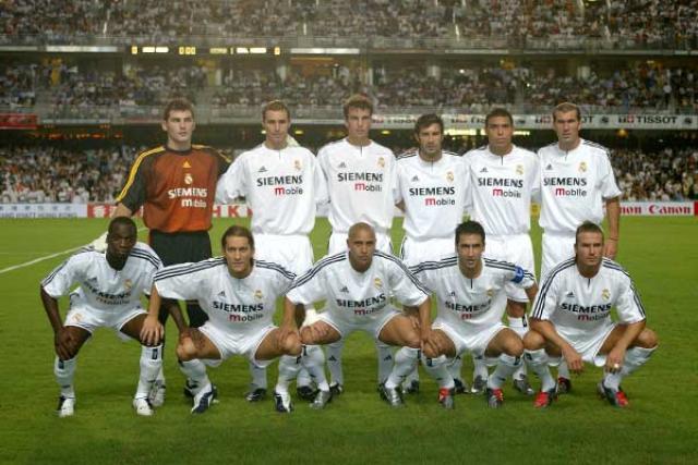 ترکیب کلاسیک رئال مادرید فصل 2000 تا 2006