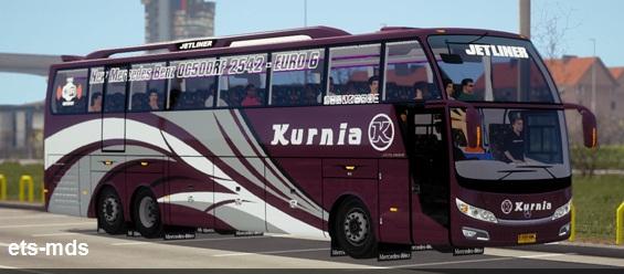 دانلود اتوبوس فوق العاده Jetliner + داخلی برای یورو تراک