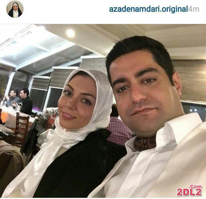 عکس سلفی جدید منتشرشده از آزاده نامداری و همسرش