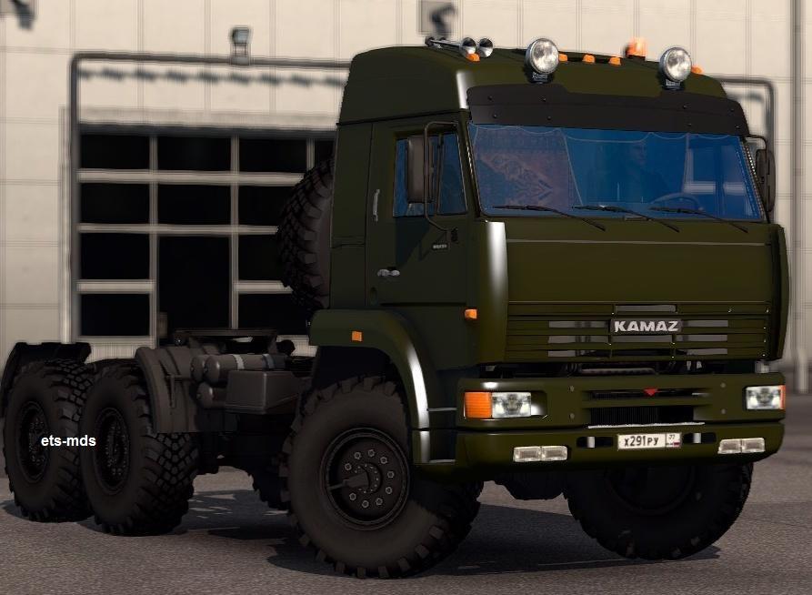 دانلود کامیون kamaz 6460 + داخلی برای یورو تراک