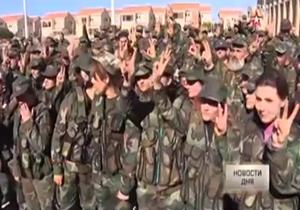 تمرینات گردان زنان در ارتش سوریه + فیلم