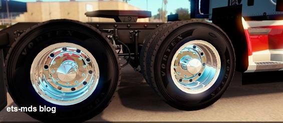 رینگ زیبای تمام کروم برای american truck simulator